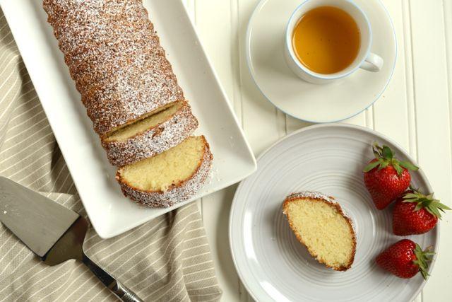 Scandinavian Almond Cake with Tea