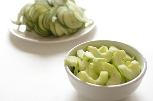 Sliced Cucumbers