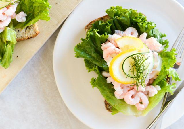 Shrimp Smørrebrød Horizontal