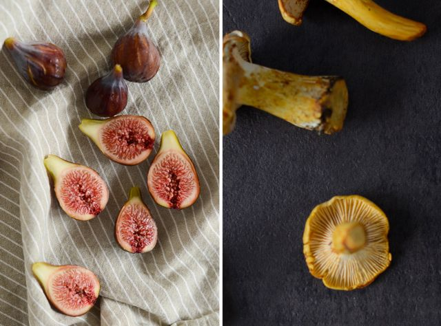 Figs and Chanterelles Diptych