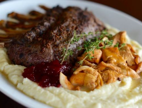 Venison with Parsnips and Chanterelles