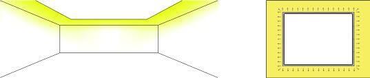 Cornisas con iluminación led indirecta. Led lineal