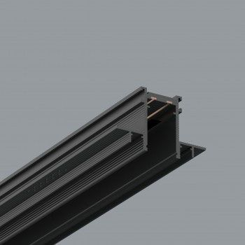 Sistema de carriles de iluminación empotrados
