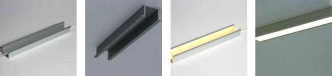 perfiles led para iluminación de baños