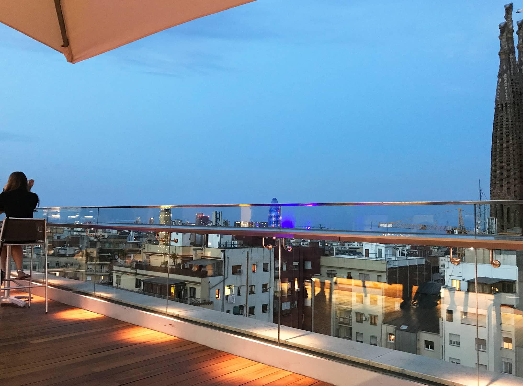 Iluminacin Terraza Hotel Ayre Rosellon Barcelona