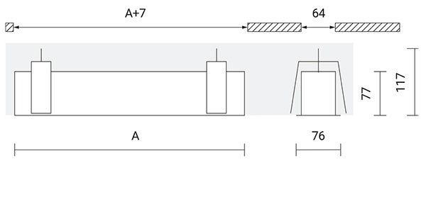 Medidas iluminación lineal led