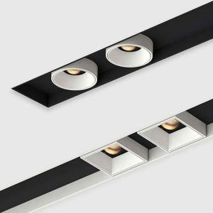 carril de diseño minimalista para iluminación led