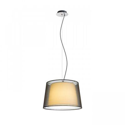 Lámpara de suspensión Esplanade pendant con doble pantalla textil