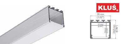 Perfil de aluminio para tiras led LIPOD