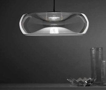 Lámpara de cristal suspendida
