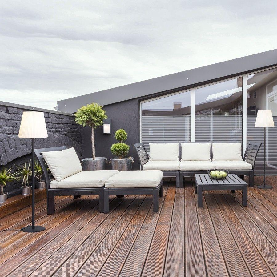 Lámpara de pie de exterior para terrazas y jardines