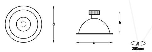 LED Downlight circular, modelo SOFT R