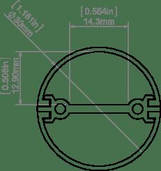 Perfil para tiras led tubular