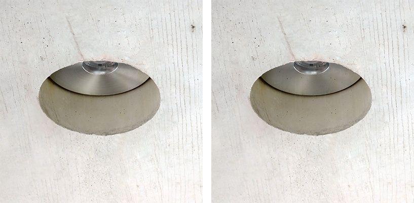 luces techo hormigón
