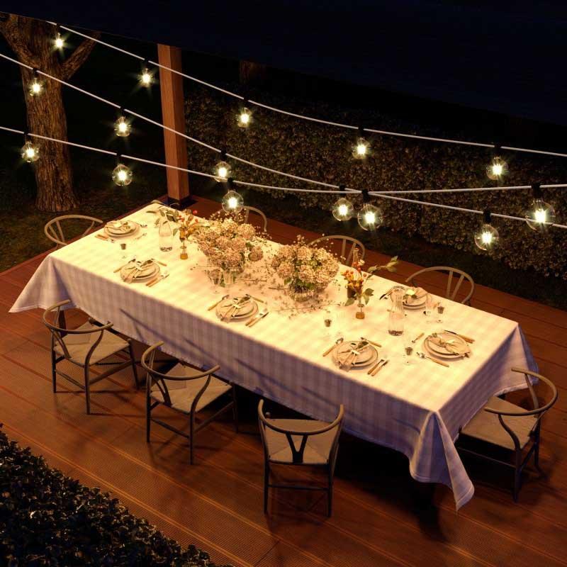 luces exterior jardín