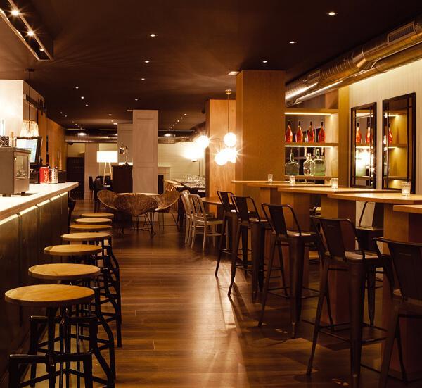 Proyecto de iluminacin Led restaurante Malgam Barcelona