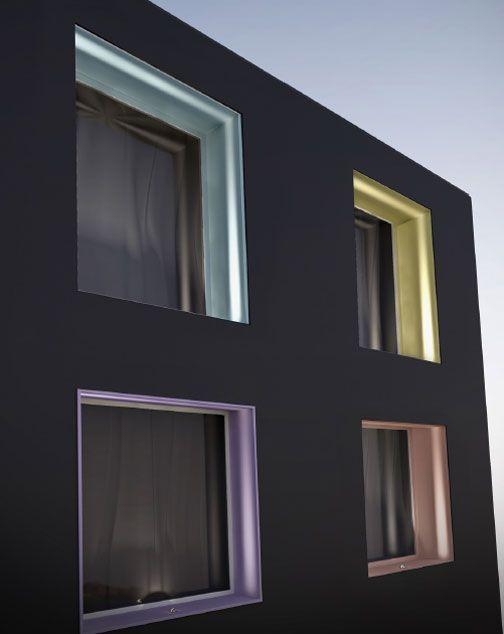 Iluminación de marcos de ventanas