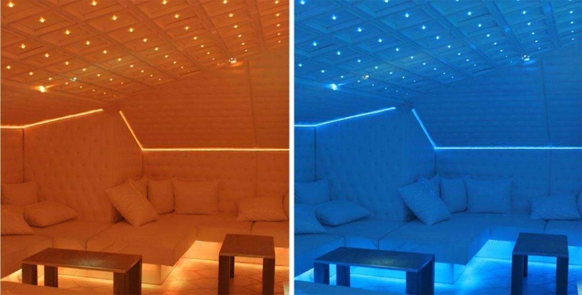 Iluminación LED RGB para locales de ocio