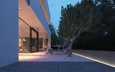 Iluminación LED terrazas y jardines