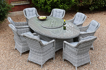 rattan garden dining chairs uk hon volt chair furniture range outside edge metal sets