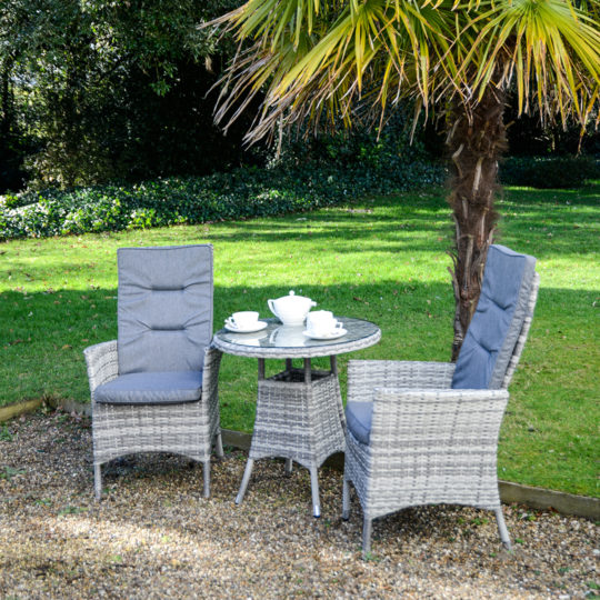 Rattan Corner Sofa Set Uk Malmo Reclining Bistro Set – Granite Rattan - Outside Edge
