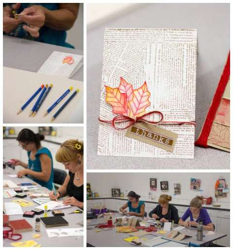 Card making at Ben Franklin, Grass Valley