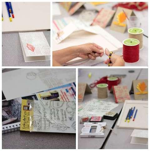 Card making at Ben Franklin