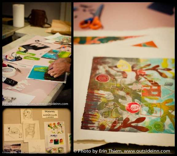 Print Making Class at As If Studio, Grass Valley