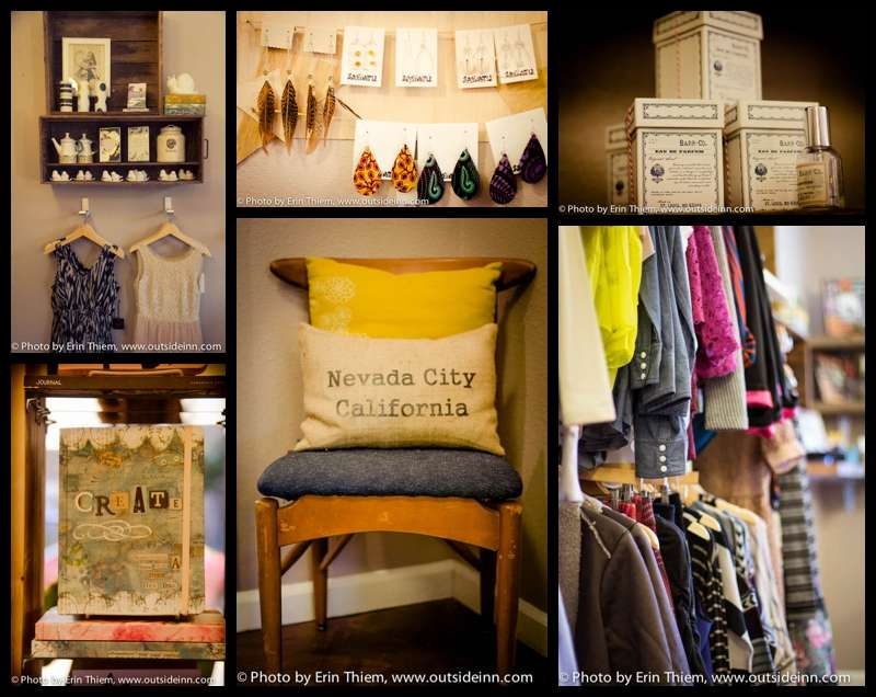 Home decor, gifts, clothing, accessories, Nevada City shopping
