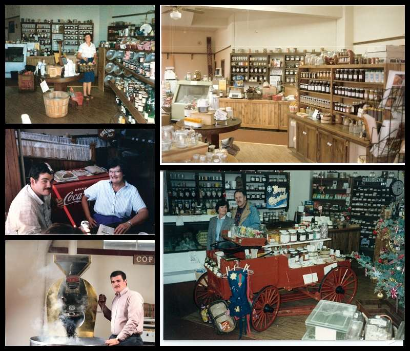 Vintage photos of Carolines Coffee Roasters, Grass Valley Coffee Shop