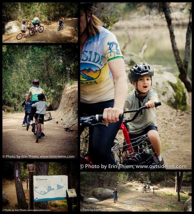Outdoor adventures with kids, biking to Hirschman's Pond, Nevada City