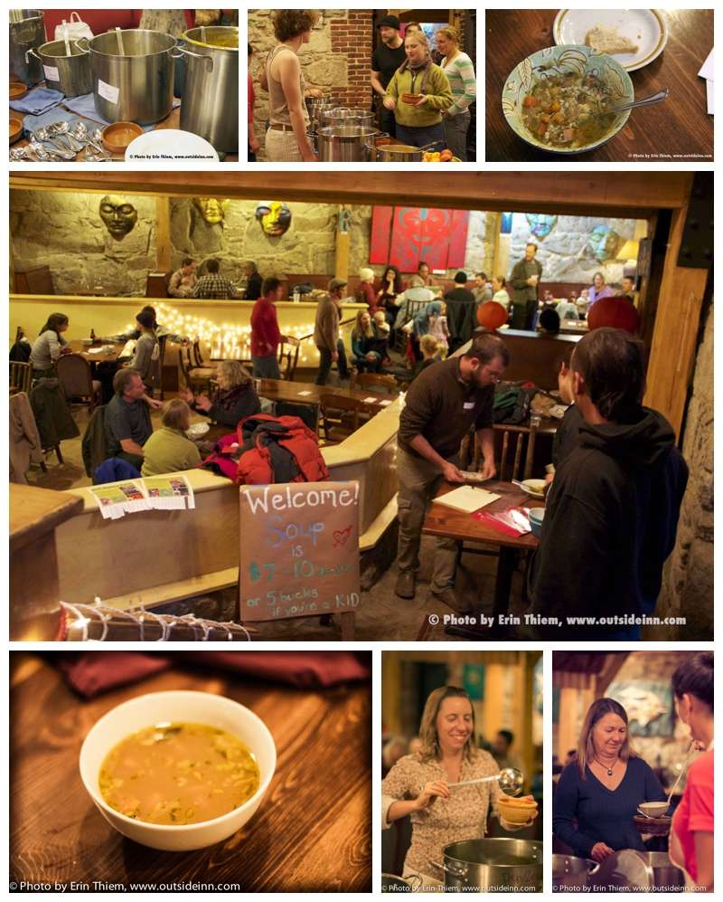 Soup night at the Stonehouse, Food Love Project Fundraiser
