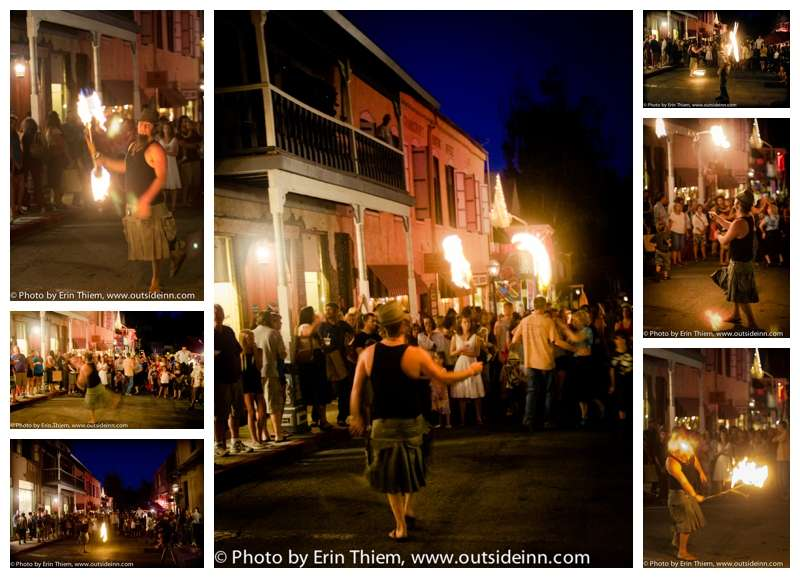Nevada City First Friday Art Walk fire throwing photos