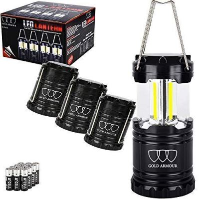 Gold Armour 4 Pack Portable LED Camping Lantern