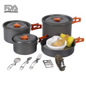 RedCamp Camping Cookware 23 PCS Mess Kit