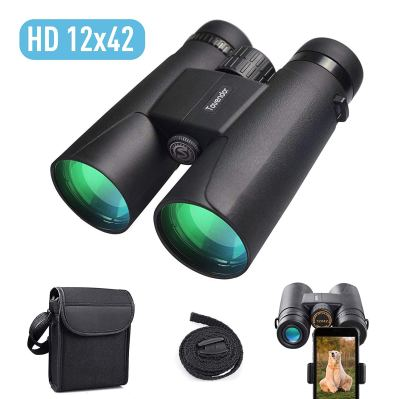 12x42 Compact Binoculars for Adults