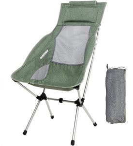 MARCHWAY Lightweight Folding High Back Camping Chair