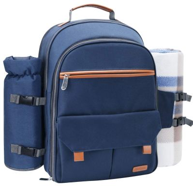 Sunflora Picnic Backpack for 4 Person Set Pack