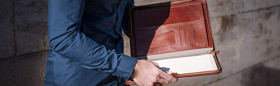 Maruse Leather Portfolios or Padfolios