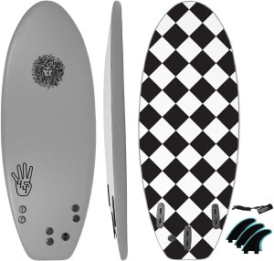 KONA SURF CO Beginners Surfboard for Kids and Adults