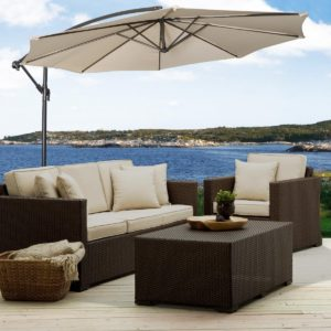 Cantilever Umbrella with Outdoor Living Furniture by Giantex
