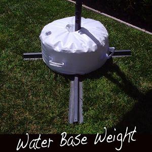 Closeup of Offset Umbrella Base Stand Weight
