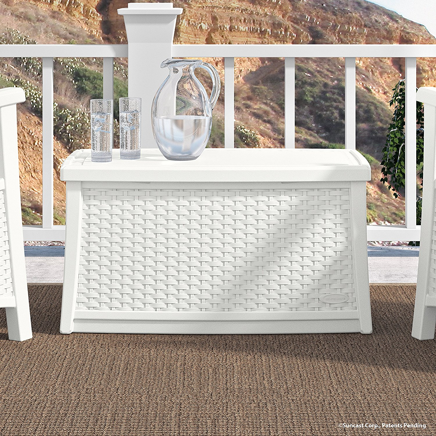 Suncast ELEMENTS Coffee Table with Storage
