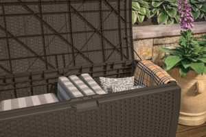 Suncast Deck Box 99 Gallon Interior