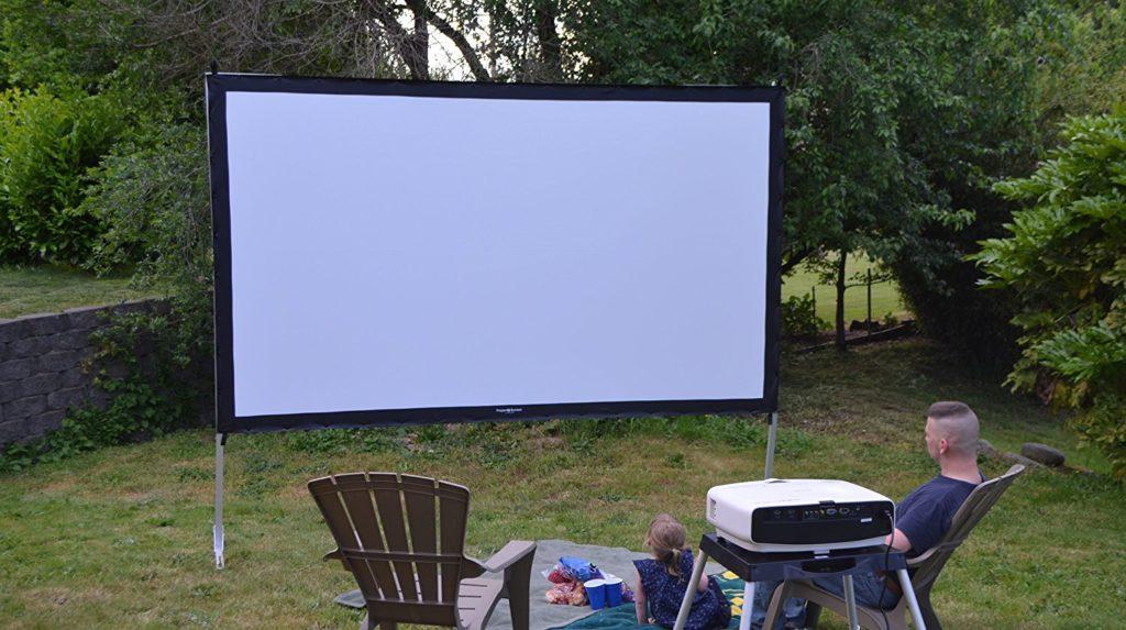 Visual Apex ProjectoScreen120HD Portable Movie Theater Projector Screen 16:9 format