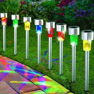 8 Pack Color Solar Garden Lights