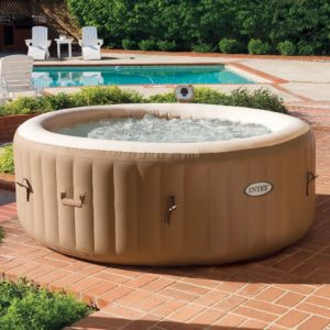 Intex Blow Up Hot Tub Bubbling Away