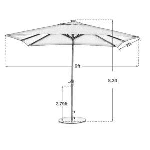 Abba Patio Umbrella Dimensions