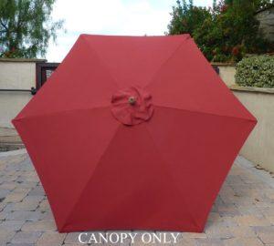 Formosa 9' 6 Rib Replacement Umbrella Canopy Brick Red