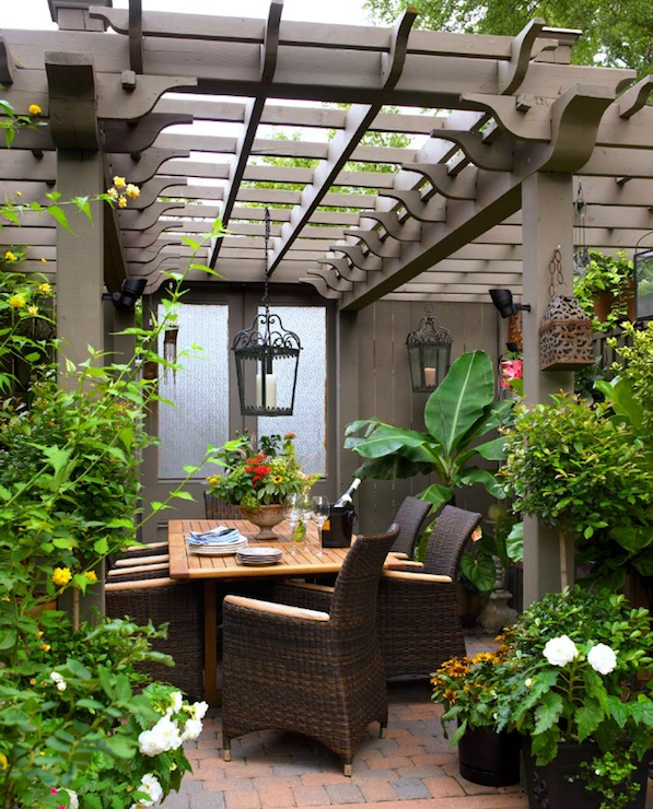 Pergola with Chandlier Source: DecorPad